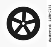 flat black wheel and tire with... | Shutterstock .eps vector #615847196