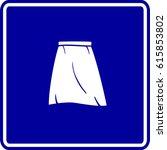 skirt sign | Shutterstock .eps vector #615853802