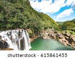 Beautiful Shifen Waterfall In...