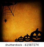 halloween pumpkins with pumpkin ... | Shutterstock . vector #61587274