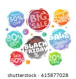 different colo sale banners...   Shutterstock .eps vector #615877028