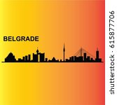 city of belgrade vector | Shutterstock .eps vector #615877706