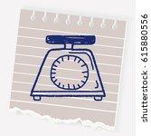 doodle scale | Shutterstock .eps vector #615880556