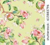 watercolor seamless pattern of... | Shutterstock . vector #615883796