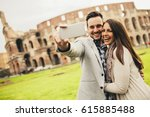 Couple Taking Selfie In Rome ...