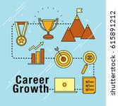 career growth development icons ... | Shutterstock .eps vector #615891212