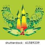 xmas pattern | Shutterstock .eps vector #61589239