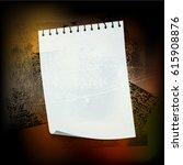 splattered grungy background ... | Shutterstock . vector #615908876