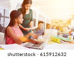 e learning training with... | Shutterstock . vector #615912632