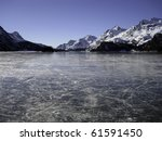 Frozen Lake Of Silvaplana With...