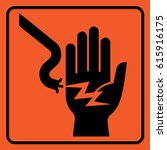 Electrical Hazard Warning Sign. ...