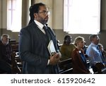 church people believe faith... | Shutterstock . vector #615920642