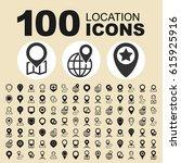 simple set of navigation... | Shutterstock .eps vector #615925916