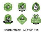 big set of quality vintage... | Shutterstock .eps vector #615934745