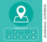 map icon vector flat design... | Shutterstock .eps vector #615938315
