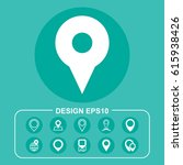 pointer icon vector flat design ...