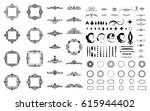 circle and square wicker... | Shutterstock .eps vector #615944402