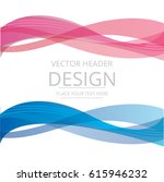 abstract lines wave for banner... | Shutterstock .eps vector #615946232