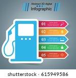 abstract 3d digital... | Shutterstock .eps vector #615949586