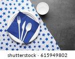 white plastic disposable... | Shutterstock . vector #615949802