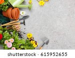 composition with flowers and... | Shutterstock . vector #615952655