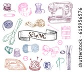 hand drawn sketch illustration... | Shutterstock .eps vector #615956576