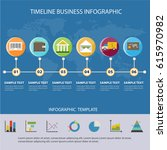 colorful timeline business... | Shutterstock .eps vector #615970982