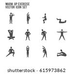 warm up exercise fitness... | Shutterstock .eps vector #615973862