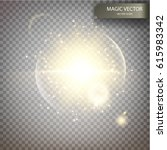 magic vector luminous... | Shutterstock .eps vector #615983342