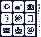 email icon. set of 9 filled... | Shutterstock .eps vector #615983432