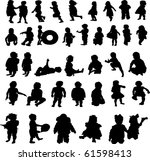 collection of children's... | Shutterstock . vector #61598413