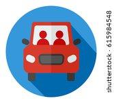 car flat design icon vector...