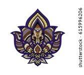 stylized multicolor vector... | Shutterstock .eps vector #615996206