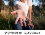 helping hand reaching out | Shutterstock . vector #615998636
