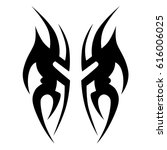 tattoo sketch tribal vector...   Shutterstock .eps vector #616006025