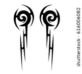 tattoo sketch tribal vector... | Shutterstock .eps vector #616006082