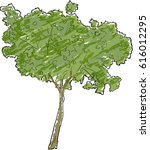 illustration with green colored ... | Shutterstock .eps vector #616012295