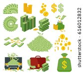 set a various kind of money.... | Shutterstock .eps vector #616012832