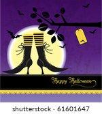 halloween greeting card | Shutterstock .eps vector #61601647