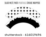 printable cupcake wrappers for... | Shutterstock .eps vector #616019696