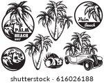 a set of monochrome templates... | Shutterstock . vector #616026188
