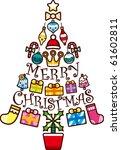 christmas tree | Shutterstock .eps vector #61602811