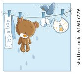 It's A Boy   Announcement Card