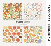 abstract seamless set with... | Shutterstock .eps vector #616053056