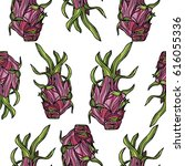 seamless pattern with... | Shutterstock .eps vector #616055336