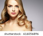 amazing woman blond. beautiful... | Shutterstock . vector #616056896