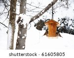 Winter Scene With Snow And...