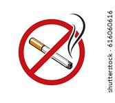 no smoking sign vector | Shutterstock .eps vector #616060616