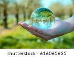 nature through a crystal ball | Shutterstock . vector #616065635