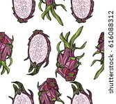 seamless pattern with... | Shutterstock .eps vector #616088312